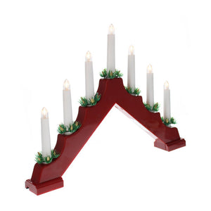 Battery Operated Red Candle Bridge