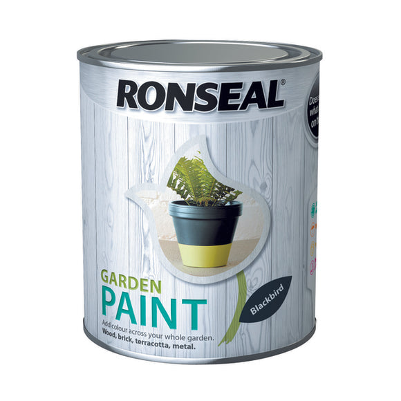 Ronseal Garden Paint 750ml Blackbird