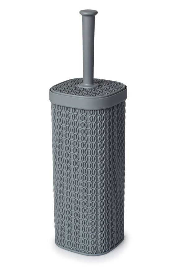 Grey Lace Design Toilet Brush and Holder