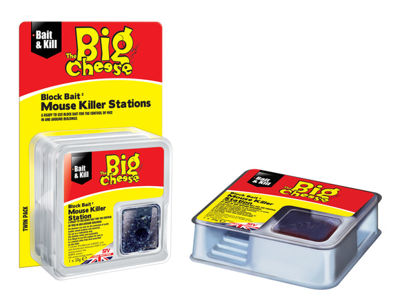 Big Cheese All weather Black Bait Mouse Killer Station