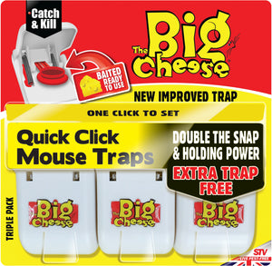 Big Cheese Quick Click Mouse Trap