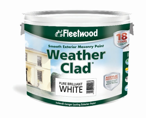 Fleetwood Weatherclad Smooth Masonry Paint 10 Litre