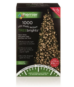 1000 M-A Led TreeBrights Timr - Warm White