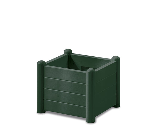 Italia Square Flower Box col. Green