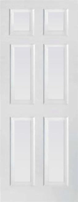 Indoors Toronto 6 Panel Primed Door 78X26X44Mm