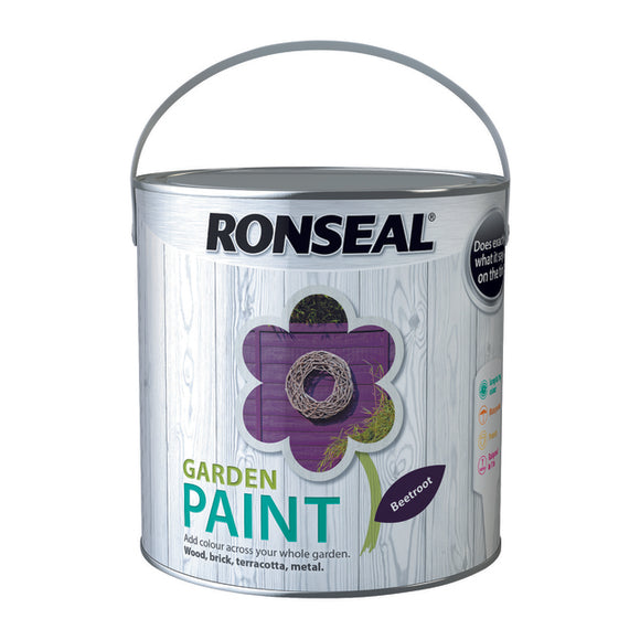 Ronseal Garden Paint 2.5L Beetroot
