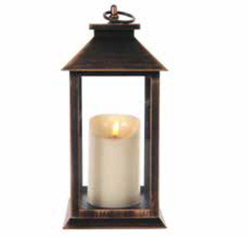 30cm Antique Gold Lantern
