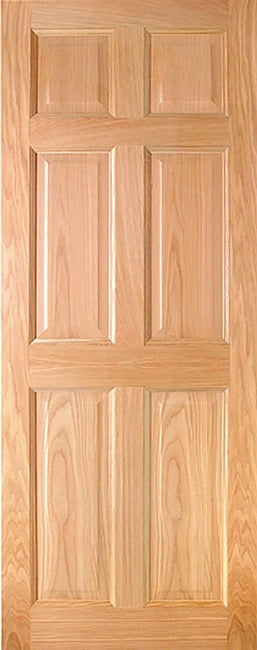 Indoors Hartford Pre-Fin Oak 6-Panel Engd Door 80X34