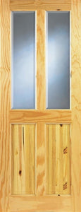 Indoors Ashford Pine Bevelled Glass Door 78X30X42Mm