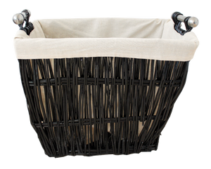 Large Black Wicker Basket With Liner