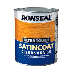 Ronseal Ultra Tough Varnish 750ml Satin Coat
