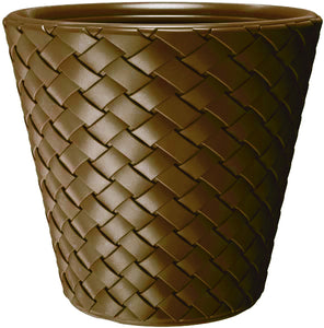 Basketweave Planter Brown 400X400X480