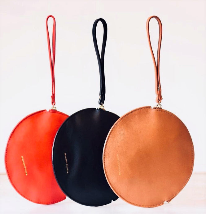 Mila Round Leather Pouch - Mahere
