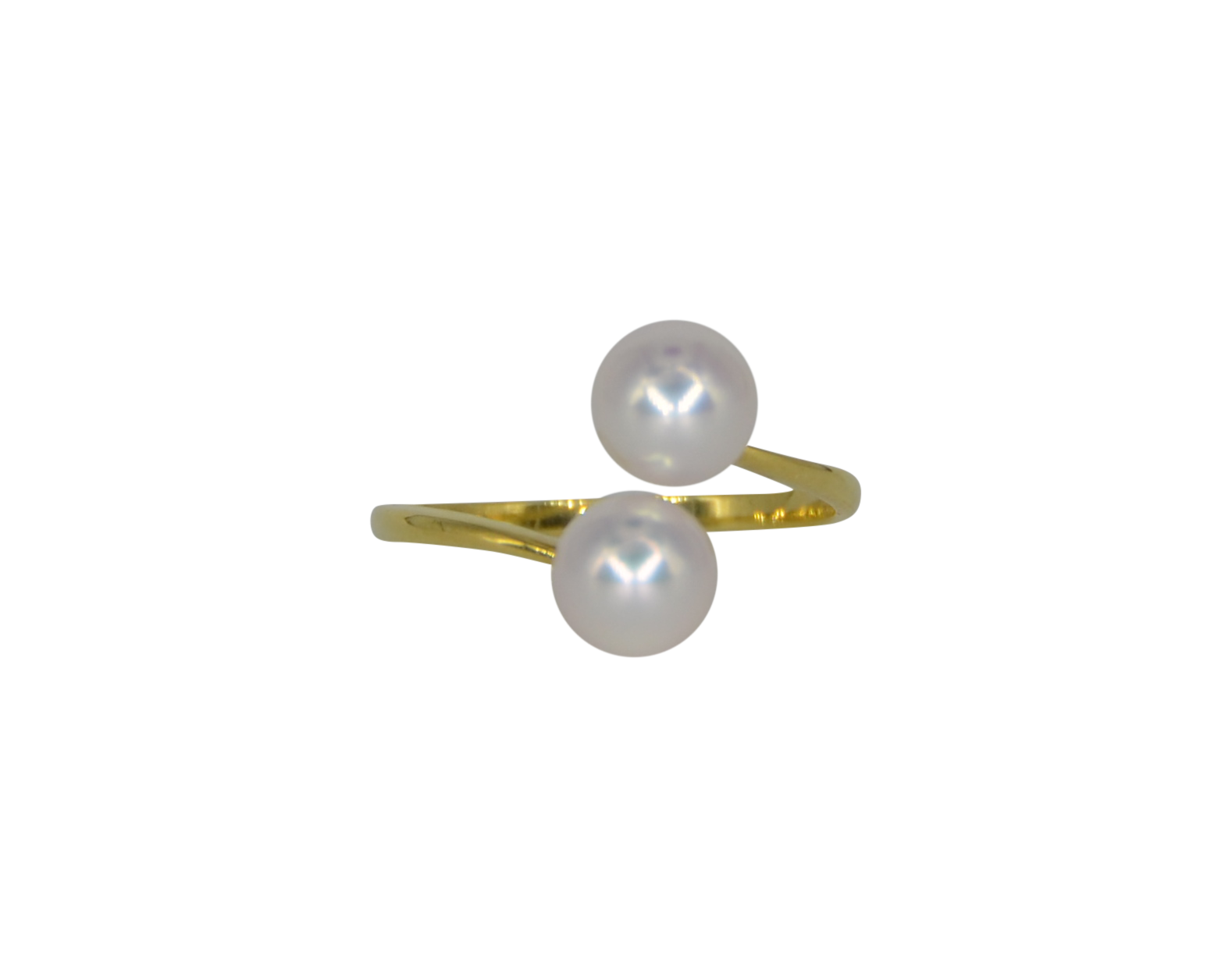 2 Moons Double Pearl Ring - Akoya Atelier