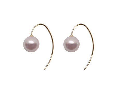 Smooth Bend Pearl Drops - Akoya Atelier