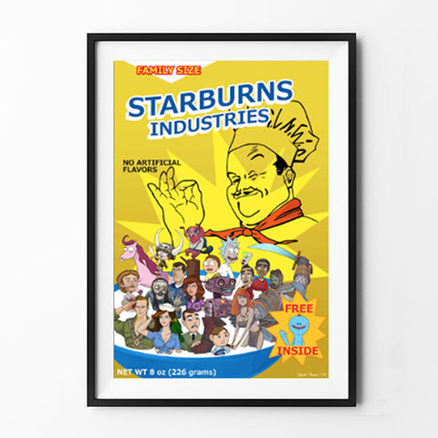 Starburns Industries Cereal Box Poster