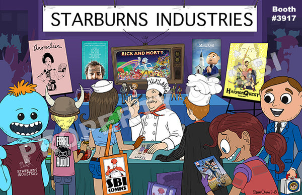 Starburns Industries Comic Con 2015 Poster