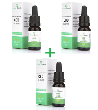 3 bottle x 10% - 1000MG CBD Oil