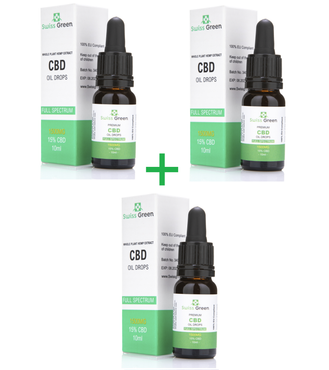 3 bottle x  15% - 1500MG CBD Oil