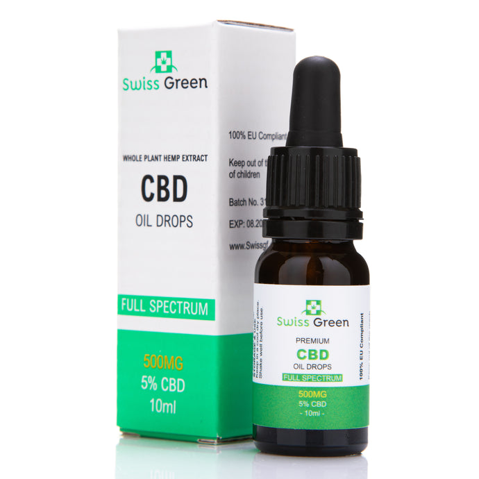 Swiss CBD Oil Full Spectrum 500mg 5% Strenght