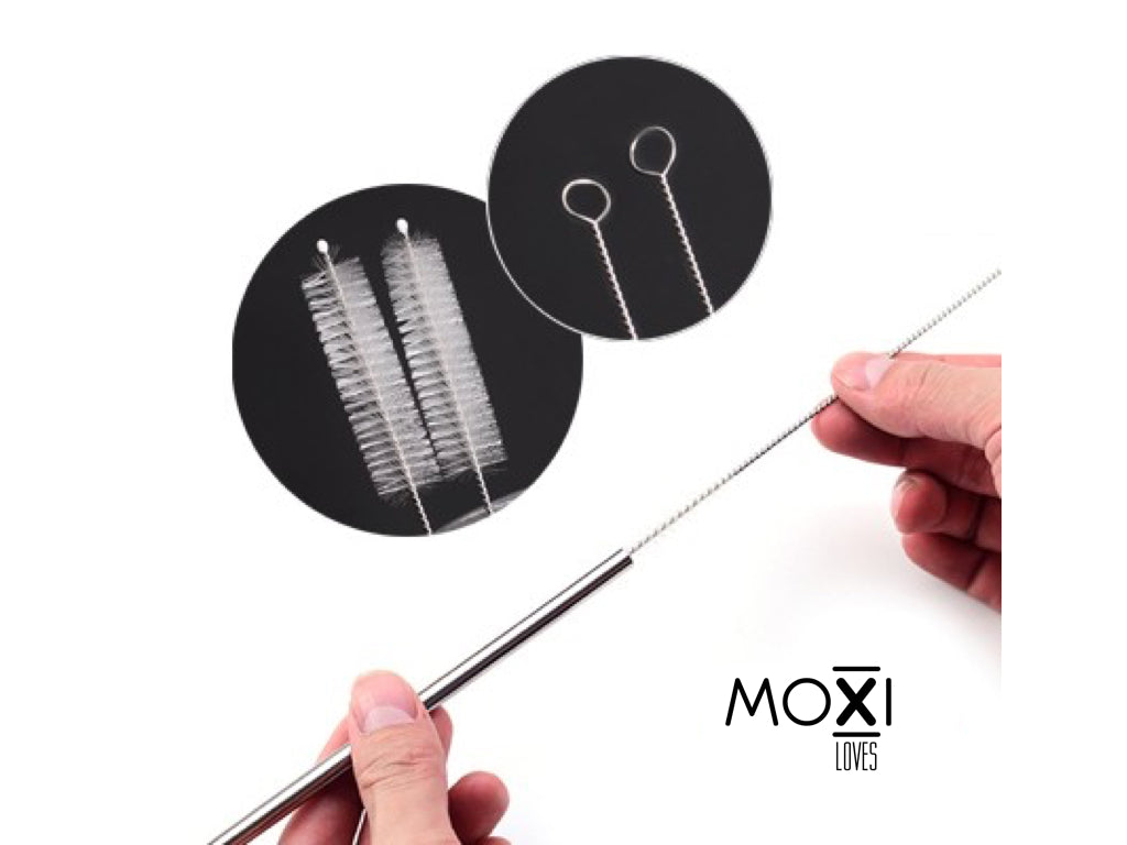 MOXI Metal straws 3 pack