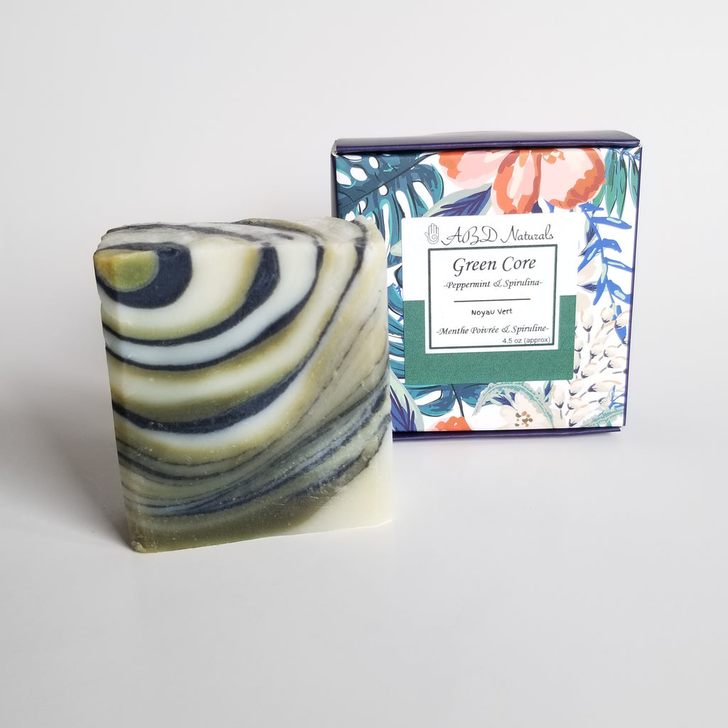 Green core soap