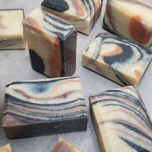 Rice soap with rice milk and rice bran oil.