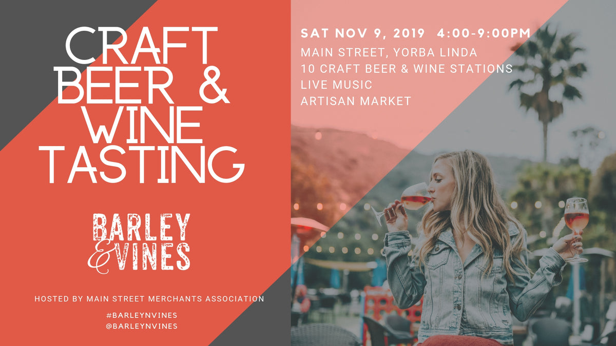NOV 9 - FOOD VENDOR - Barley & Vines - Yorba Linda