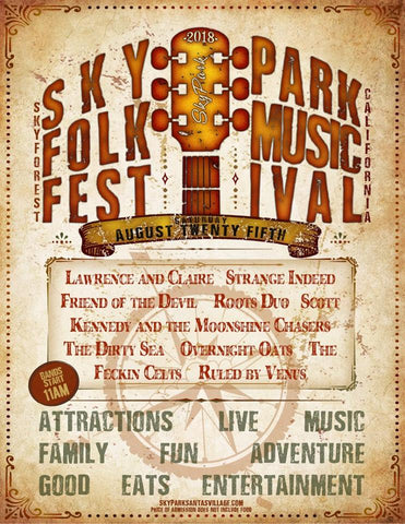 Skypark Folk Music Festival  - AUGUST 25 Booth Space