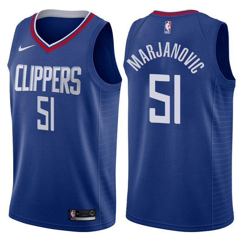 half off ac92f 6b23c Los Angeles Clippers #51 Boban Marjanovic Icon Blue Swingman Jersey