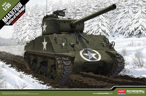 "Academy 1/35 M4A3 Sherman Tank  (76)W ""Battle of The Bulge"" ACA13500"