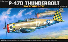 "Load image into Gallery viewer, Academy 1/72 Republic P-47D ""Razor-Back"" Thunderbolt ACA12492"