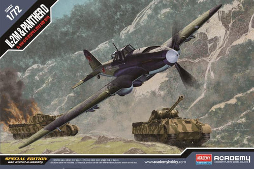 Academy 1/72 Il-2M & Panther D 2-in-1 Kit - Tank & Plane!  ACA12538