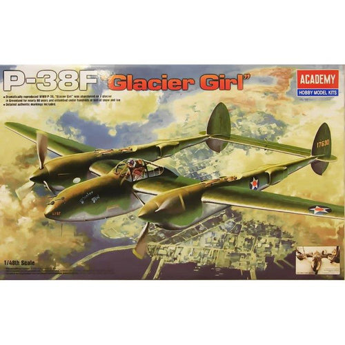 Academy 1/48 P-38F Lighting Glacier Girl ACA12208
