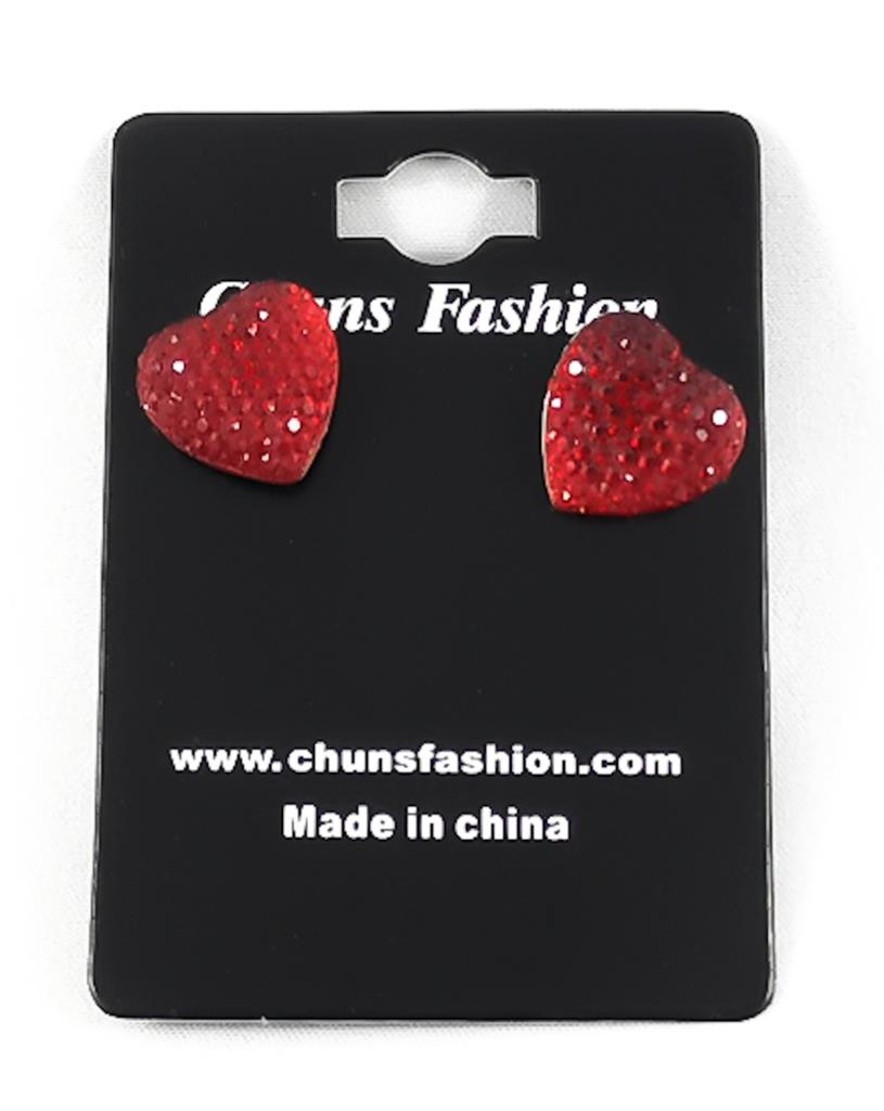 Heart - Small - Red Pierced Earrings Costume Jewelry ($5 Incl Tax)