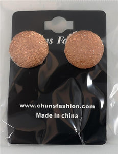 Circle - Large - Amber Pierced Earrings Costume Jewelry ($5 Incl Tax)
