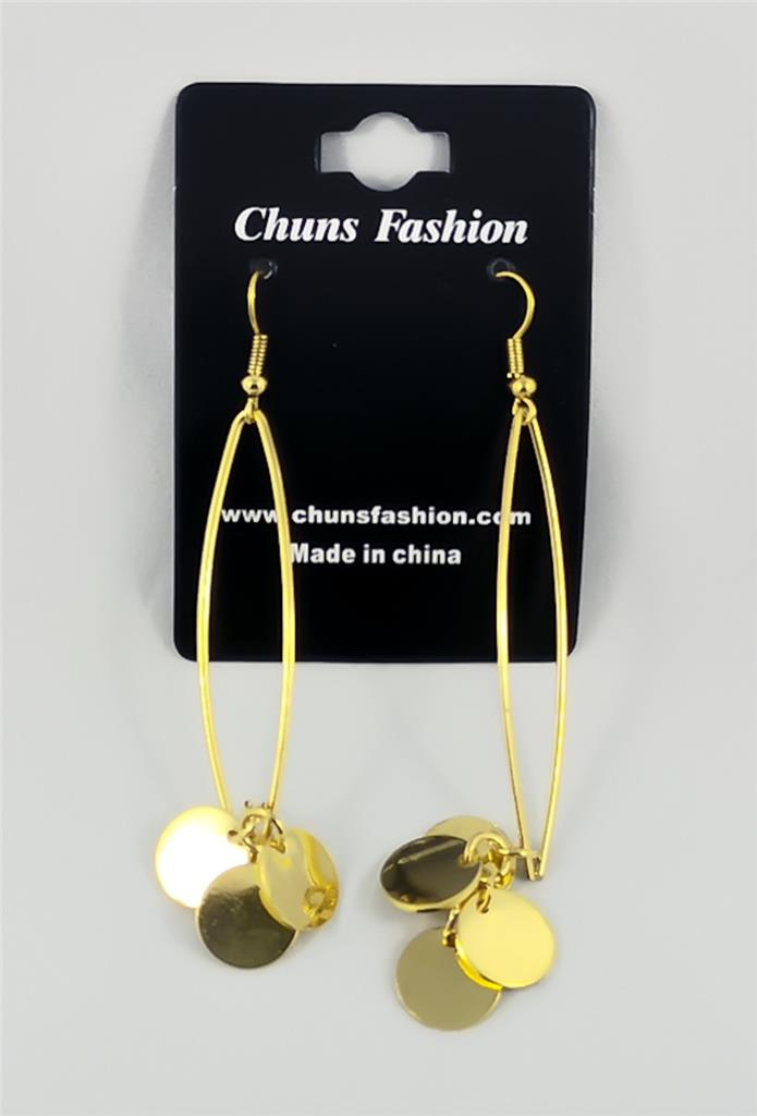 Coins - Gold Pierced Earrings Costume Jewelry