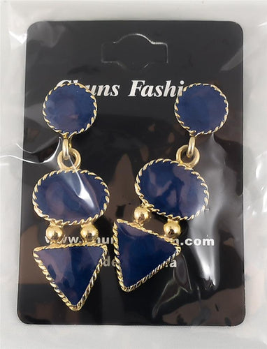 Circle Oval Triangle Pierced Earrings Costume Jewelry