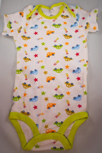 Baby Onesie - Cars and Stars - 24 Month