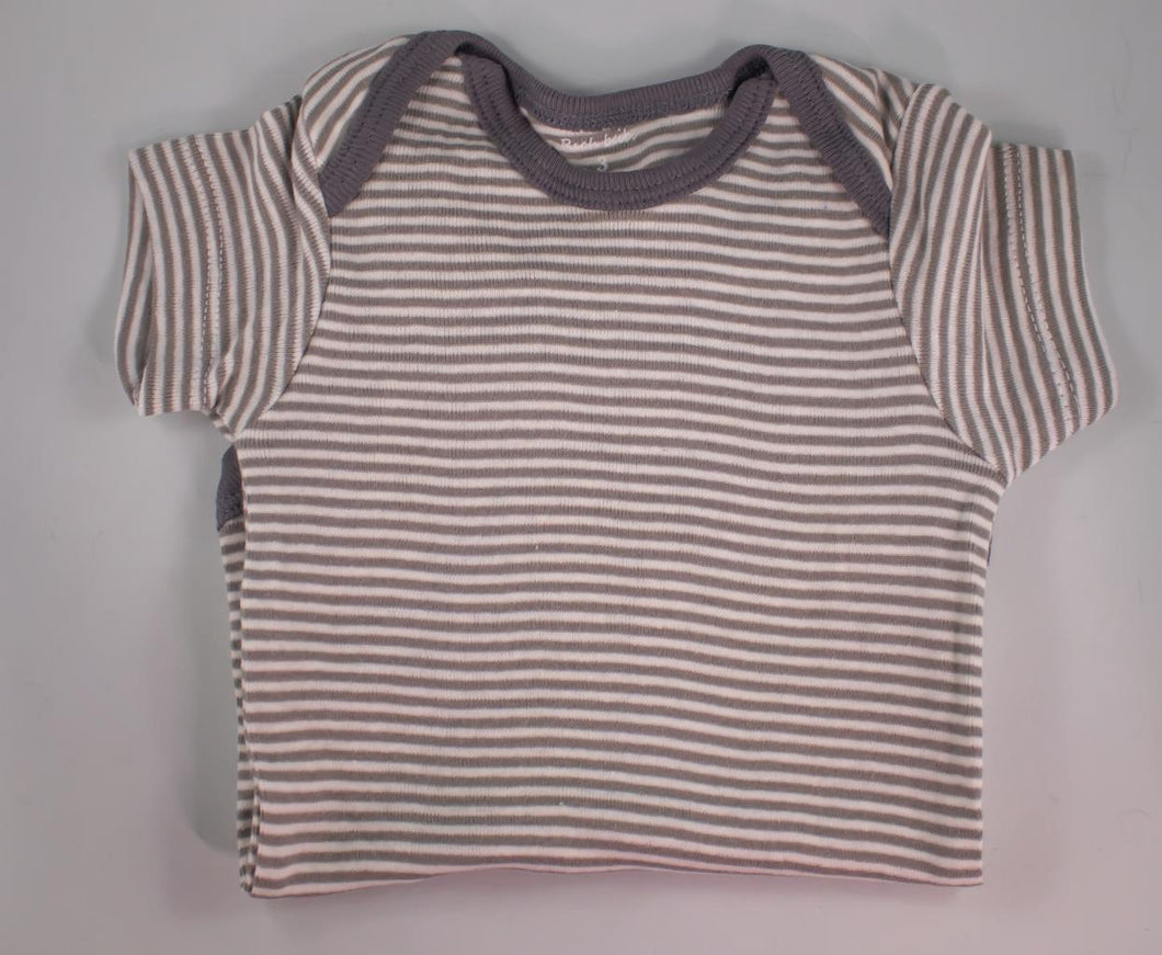 Baby Onesie - Grey on Grey Stripes - 6 Month