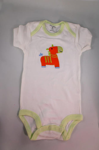Baby Onesie - Orange Horse - 6 Month ($5 Incl Tax)