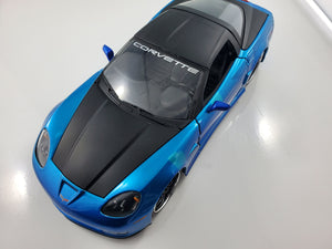 1 Only - Jada 1/24 96804 BigTime Muscle 2006 Corvette Z06 New But Minor Defect in Paint