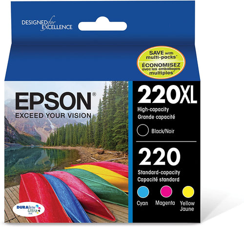 Epson 220XL High Capacity Ink Black Cyan Magenta Yellow