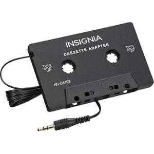 Insignia Cassette Adapter (NS-CA2E-C) - Black