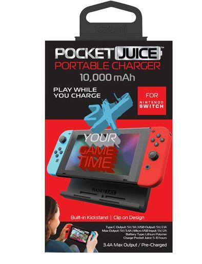 POCKETJUICE 10 000 MAH NINTENDO SWITCH