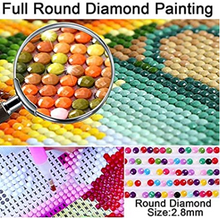 Load image into Gallery viewer, DIY 5D Imitation Diamond Painting by Number Kits, Full Drill Crystal Rhinestone Embroidery Pictures Arts Craft