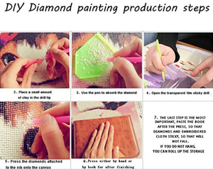 DIY 5D Imitation Diamond Painting by Number Kits, Full Drill Crystal Rhinestone Embroidery Pictures Arts Craft