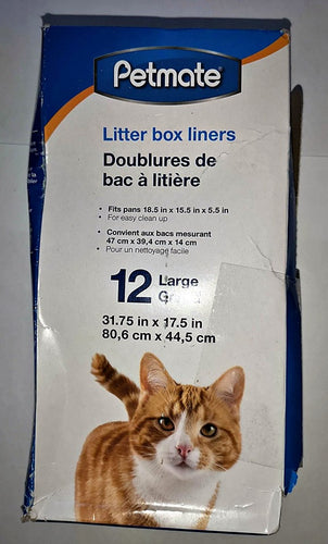 PetMate Litter Box Liners - Large (31.75x17.5in)