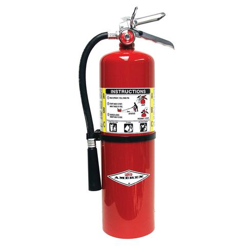 Amerex Fire Extinguisher #B456 Class A:B:C Carbon Dioxide (Co2) 10lb