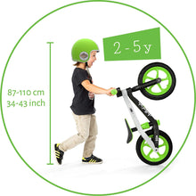 "Load image into Gallery viewer, Chillafish BMXie 12"" Kids Balance Bike - Green ($80 Incl Tax)"